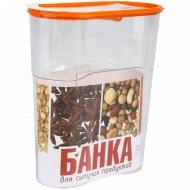 Банка для сыпучих продуктов «Люкс» 1.7 л.