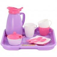 Набор детской посуды «Алиса» pretty pink с подносом на 2 персоны.