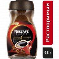 Кофе растворимый «Nescafe classic» с добавлением молотого, 95 г.