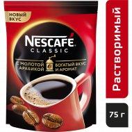 Кофе растворимый «Nescafe classic» с добавлением молотого, 75 г.