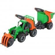 Трактор-погрузчик «ГрипТрак» с полуприцепом.