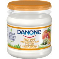 Йогурт термостатный «Danone» 3.3% персик и цветок апельсина, 160 г.