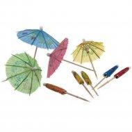 Набор шпажек деревянных «Зонтики» 10 см, 10 шт.