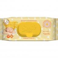 Влажные салфетки «Smile Baby» с экстрактом ромашки и алоэ 60 шт.