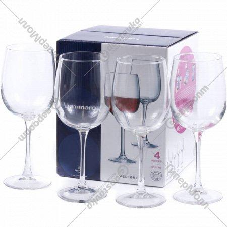 Набор бокалов «Ellegresse» для вина стеклянных 4 шт, 550 мл.