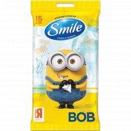 Влажные салфетки «Smile» Minions MIX, 15 шт.