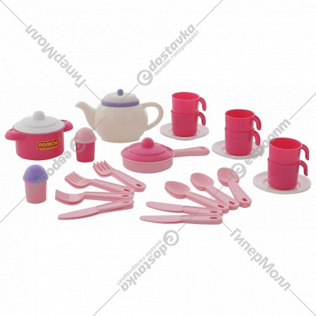 Набор детской посуды «Настенька» на 6 персон, 38 элементов.