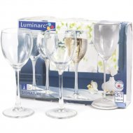Набор бокалов для вина стеклянных 3 шт, 190 мл.