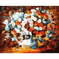 Живопись по номерам «Цветочное настроение» с акриловыми красками.