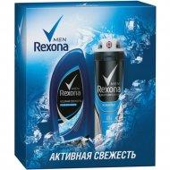 Подарочный набор «Rexona Men» активная свежесть, 150+250 мл.