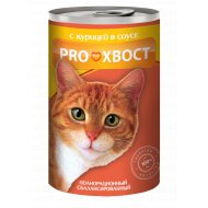 Корм для кошек «PROхвост» консерва с курицей, 415 г.