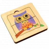 Игра настольная «Глазастые совята» трехслойный пазл из дерева.