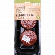 Бифштекс говяжий, с пряностями и солью, 290 г.