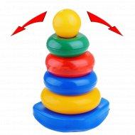 Набор пирамидка качалка «Квадратыч» 4 кольца+основание.