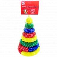 Набор пирамидка «Логика-2» 6 колец + 2 кольца-пазла.