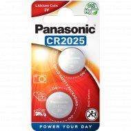 Элемент питания «Panasonic» Lithium CR2025 2BP.