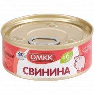 Консервы мясные «ОМКК» свинина, 100 г.