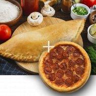 Комбо «Пицца Кальцоне» 1/500 + Пицца «Пепперони» 1/300 .