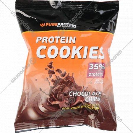 Печенье «Protein Cookies» шоколадное с кусочками шоколада, 80 г.
