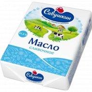Масло сладкосливочное «Савушкин» несоленое 61.5%, 180 г.