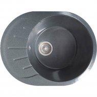 Мойка «AV Engineering» из искусственного камня RIO серый, 580х450 mm.