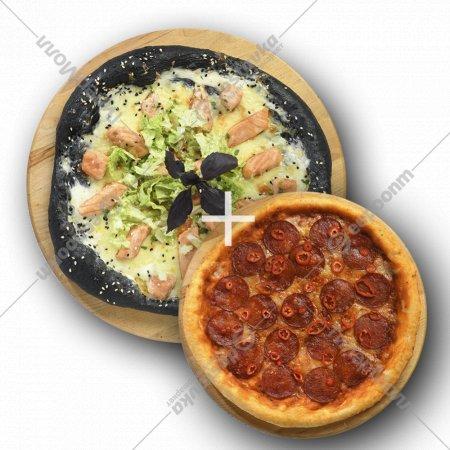 Комбо «Пицца с мидиями и креветками» 1/600+Пицца «Пепперони» 1/300 .