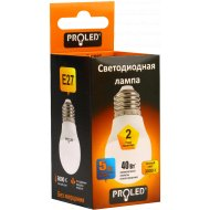 Лампа светодиодная «Proled» PL-G45 5W 3000K E27.