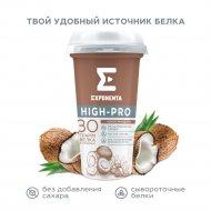 Напиток кисломолочный «Exponenta High-Pro» кокос-миндаль, 250 г.