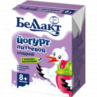 Йогурт питьевой «Беллакт» детский с бифидобактериями 2.8 %, 210 г.