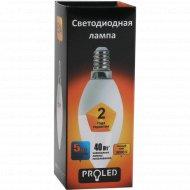 Лампа светодиодная «Proled» С37-5W 3000K E14.