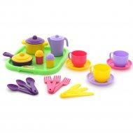 Набор детской посуды «Хозяюшка» с подносом на 3 персоны.