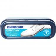 Губка «Дивидик» для обуви из гладкой кожи с дозатором, бесцветная.