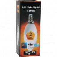 Лампа светодиодная «Proled» С37-5W 4000K E14.