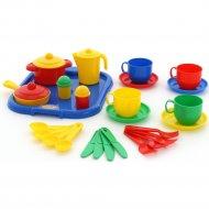 Набор детской посуды «Хозяюшка» с подносом на 4 персоны.