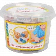 Набор для детской лепки «Тесто-пластилин» 15 цветов
