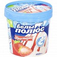 Мороженое «Белый полюс» клубника и сливки, 180 г.