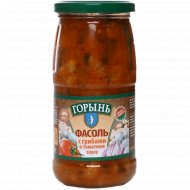 Фасоль с грибами в томатном соусе, с растительным маслом, 470 г.