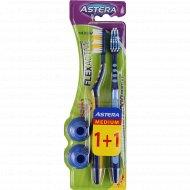 Зубная щетка для взрослых «Astera» Flex active medium 1+1.