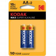 Элемент питания «Kodak» MAX LR6-2BL, 2 штуки.