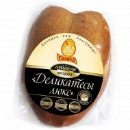 Грудка цыпленка-бройлера «Аппетитная» копчено-вареная, 1 кг., фасовка 0.45-0.75 кг