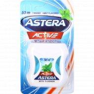Зубная нить «Astera» Active with fluoride, 50 м.