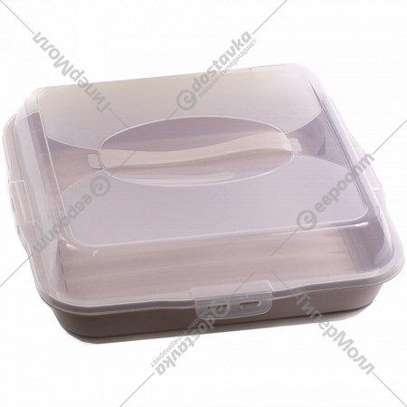 Контейнер для торта «Dunya plastik» 36х36х10 см.