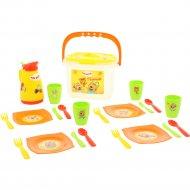 Набор посуды для кукол «Пикник. Три кота» 21 элемент.