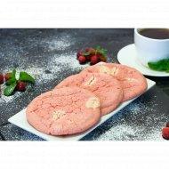 Печенье «Кукис Клубничный» с белым шоколадом, 70 г.