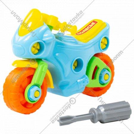 Конструктор-транспорт «Мотоцикл» 25 элементов.