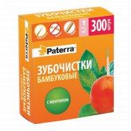 Зубочистки бамбуковые «Paterra» с ментолом 6.5 см, 300 шт.