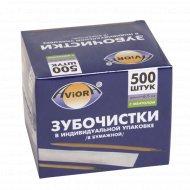 Зубочистки бамбуковые «Aviora» с ментолом 500 шт.