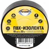 Изолента «Aviora» черная, 19 ммx20 м.