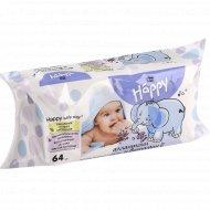 Детские влажные салфетки «Bella Baby Happy» с витамином Е, 64 шт.