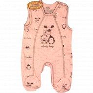 Полукомбинезон детский, розовый.
